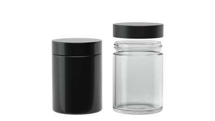 Straight 4oz CR Glass Jar