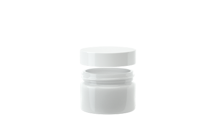Straight White 2oz CR Glass Jar